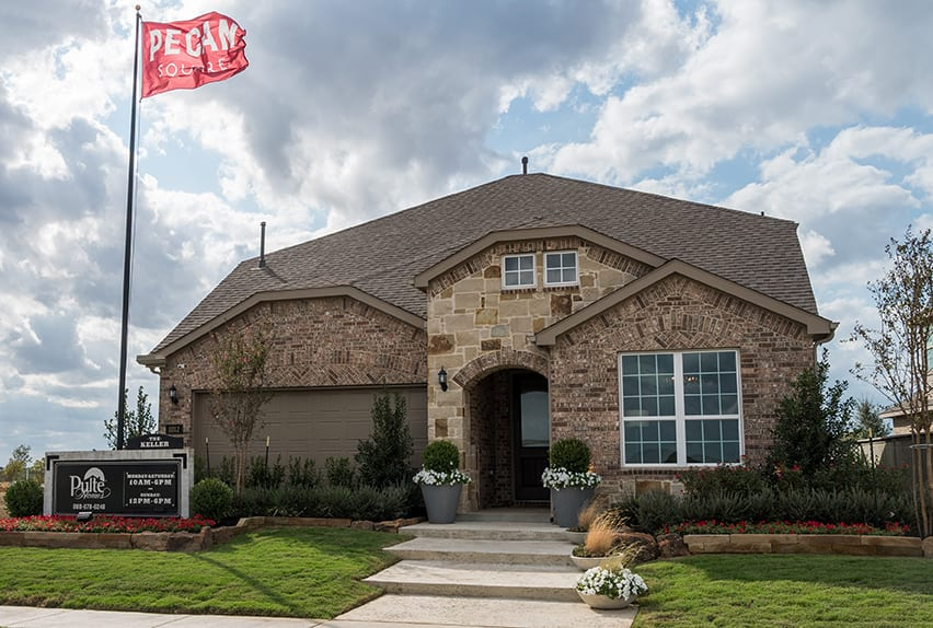Pulte Homes model at Pecan Square in Northlake, Texas