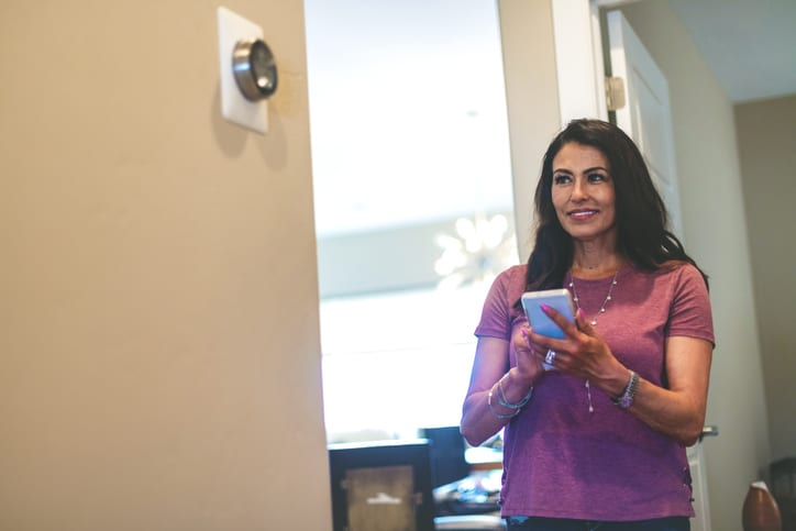 Lady in Smart Home