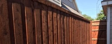 cedar board on board fence