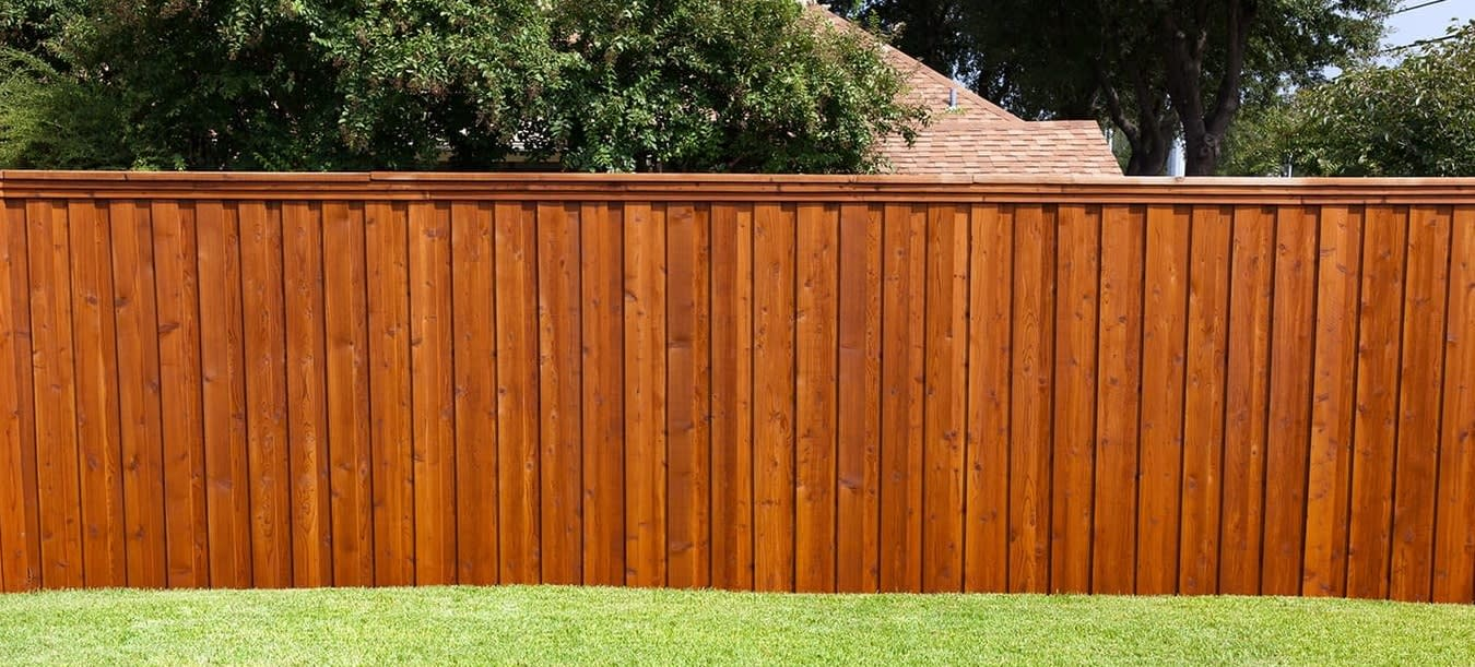 new wood fence