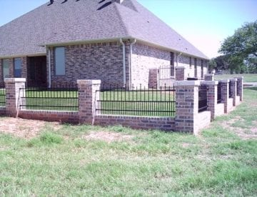 Matching Brick Pillars with Home