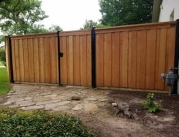 Wooden Fence with Hidden Walkway Gate