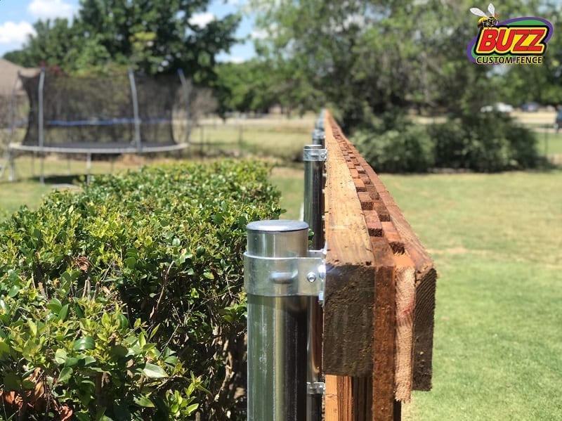 steel fence posts wood fence
