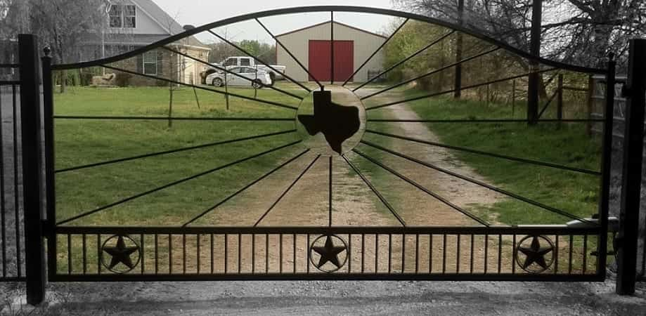 Texas Themed Electric Swing Gate