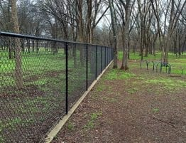 black vinyl chain link fence