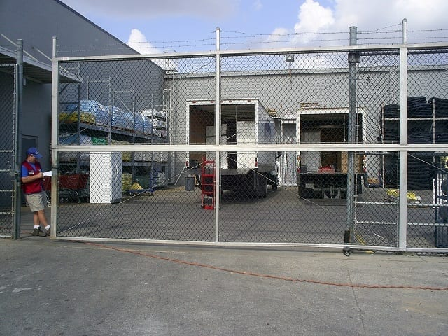 loading dock chain link fence