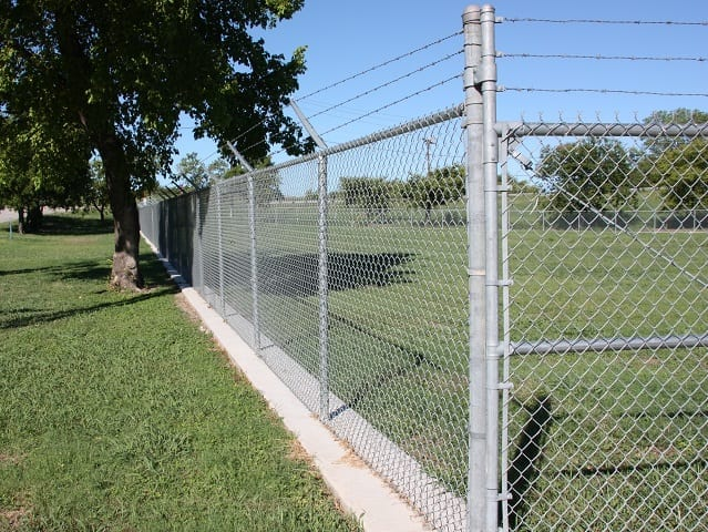 perimeter chain link barbed wire