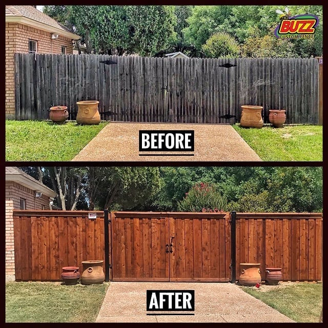 before after driveway cedar