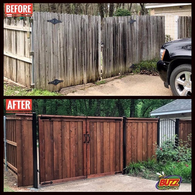 before after driveway gate vehicle