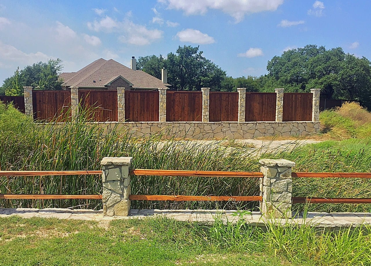 two types wood fencing