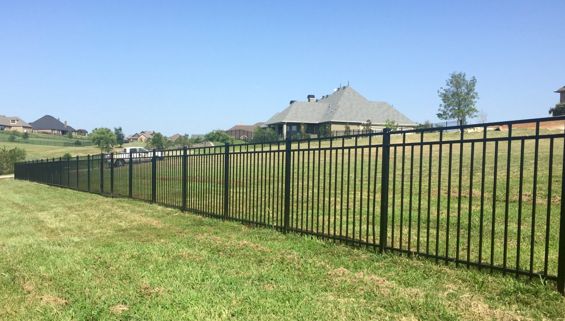 Black Iron fence, Aledo, Texas