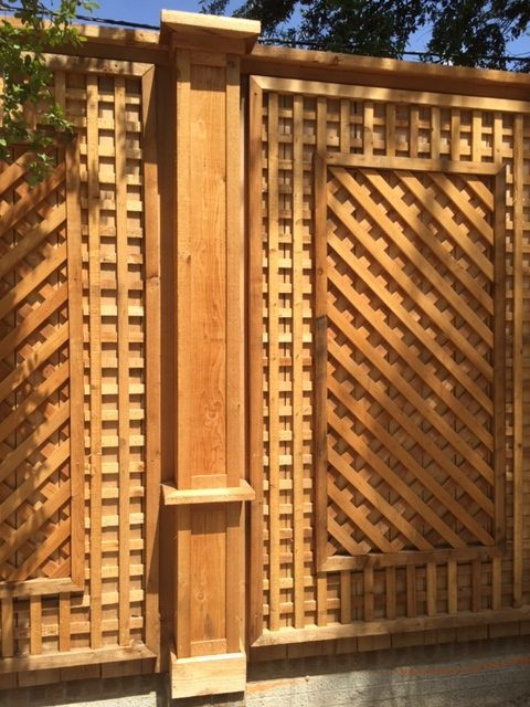 Wood Lattice Work privacy fence